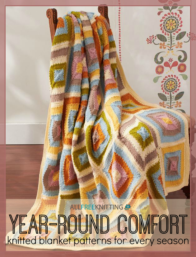 Knitting Pattern For Comfort Blanket : Year-Round Comfort: 16 Knitted Blanket Patterns for Every ...