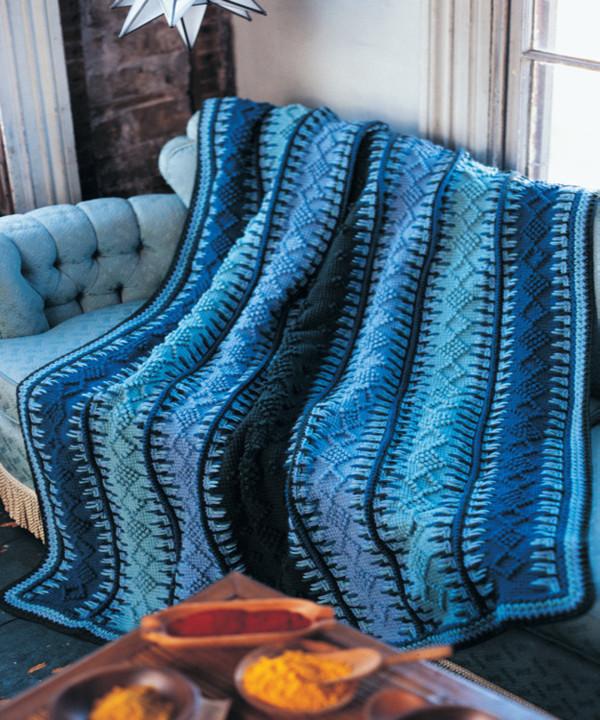 Alaskan Blue Tunisian Crochet Blanket ...
