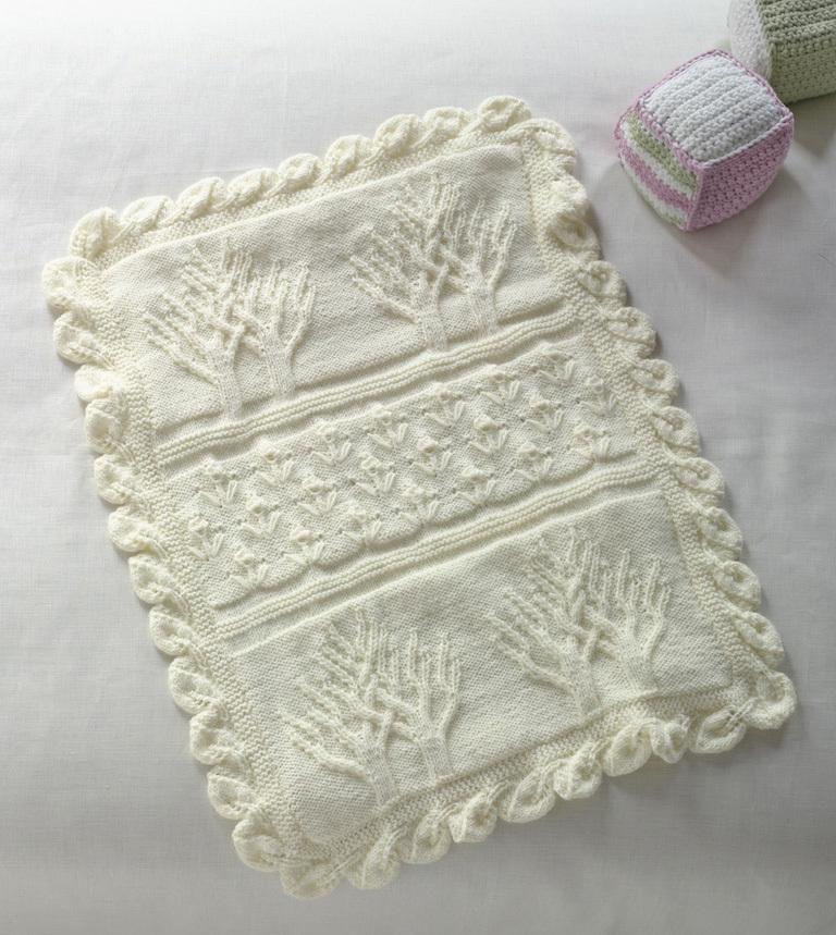 Tree Of Life Knitting Pattern : Tree of Life Throw AllFreeKnitting.com