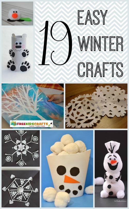 19 Easy Winter Crafts For Kids Allfreekidscrafts Com
