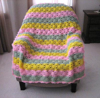 Crochet Pattern For Tulip Afghan : Tulip Crocheted Afghan FaveCrafts.com
