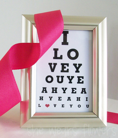 I Love You Eye Chart