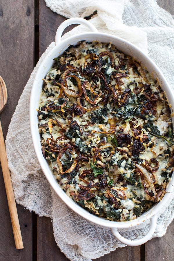 Wild Rice And Kale Casserole