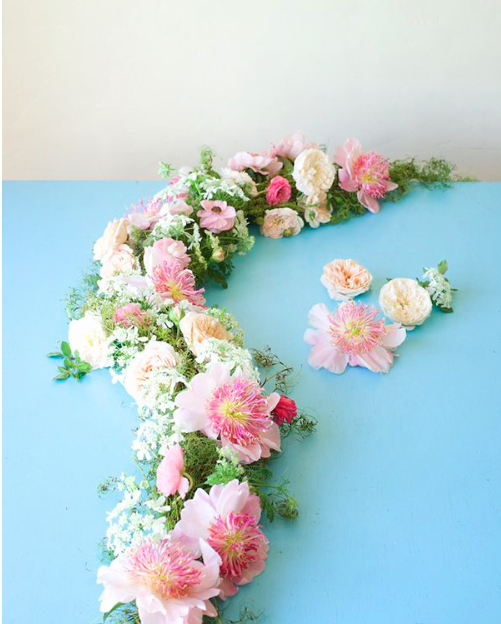 Flower Garlands For Weddings: Perfect Peony And Roses Table Garland