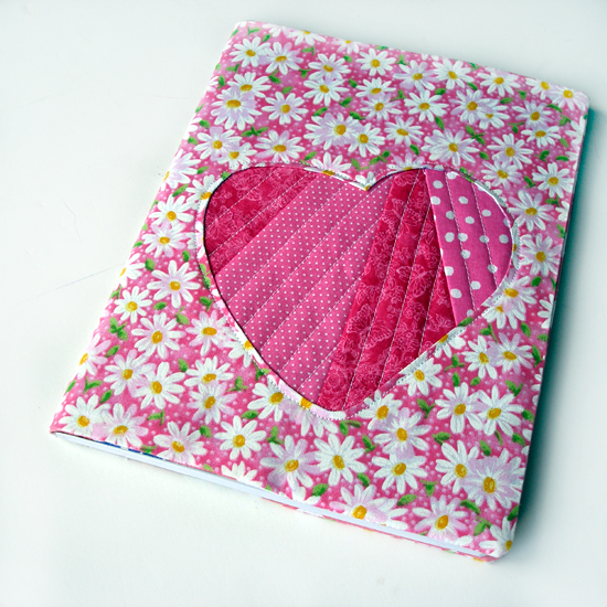 Book Cover Handmade Valentines : Scrappy love diy notebook cover allfreesewing