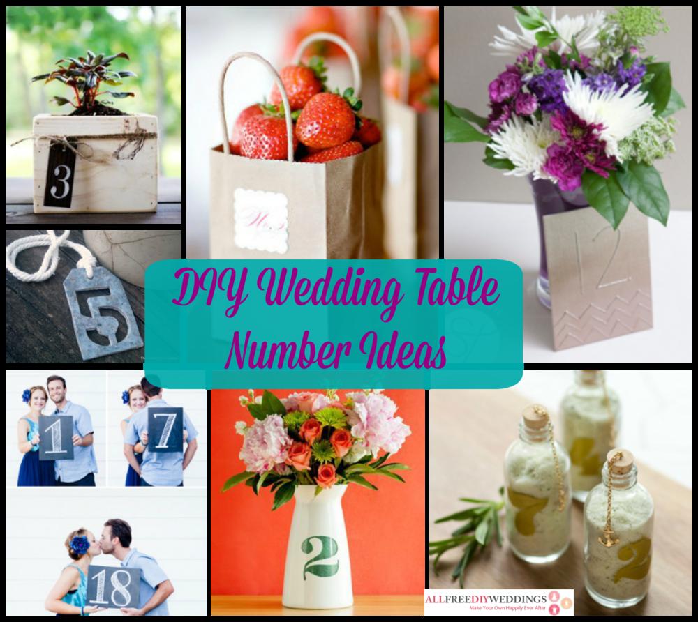 26 Diy Wedding Table Number Ideas Allfreediyweddings Com