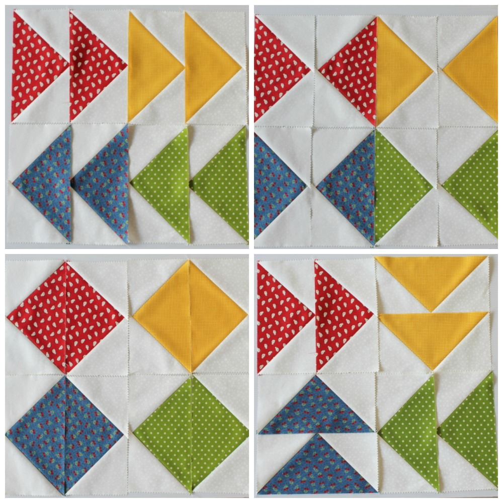 Large Square Block Quilt Patterns : Flying Geese Blocks Made Easy FaveQuilts.com