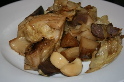 Roasted Cabbage and Potatoes