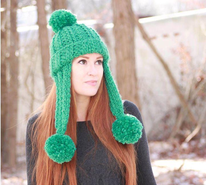 Trifecta Ear Flap Hat Allfreeknitting Com