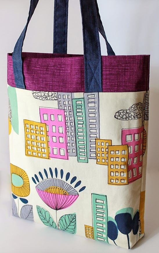Tri Color Ten Step Tote Bag Pattern