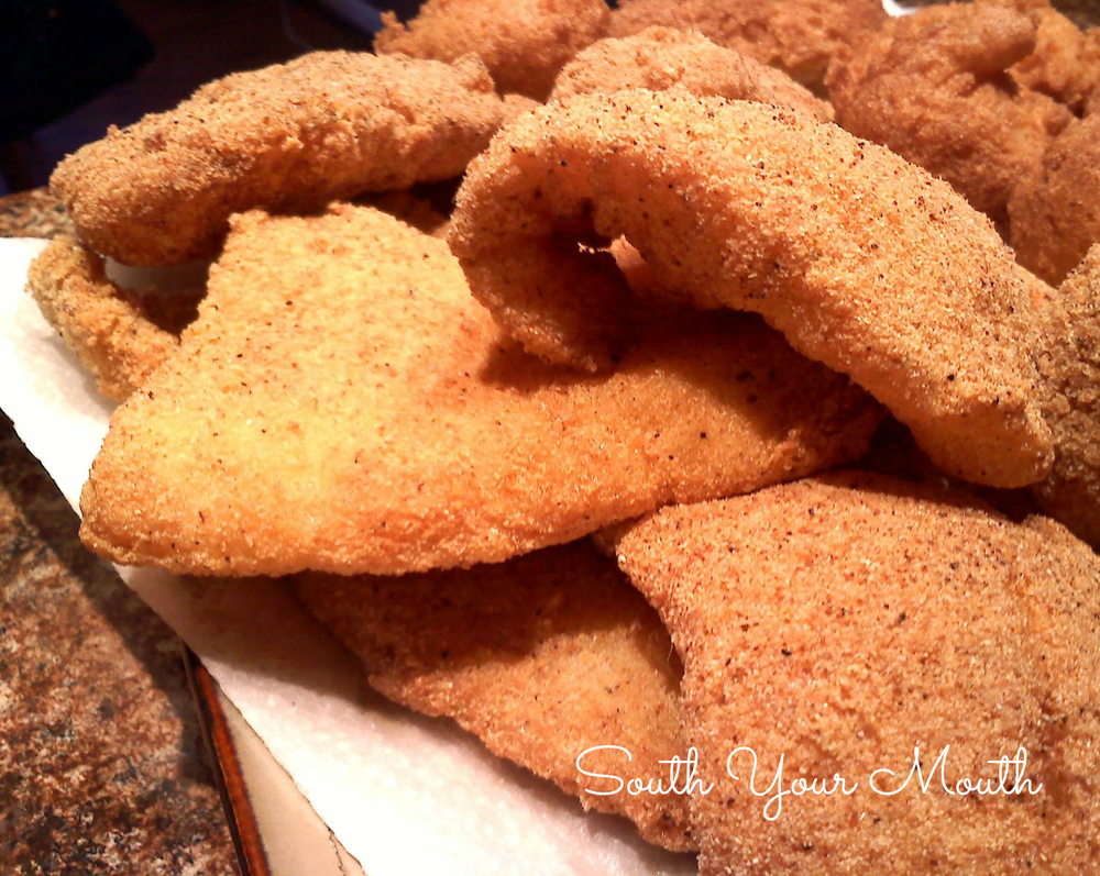 Simple southern fried fish for Fried fish recipe cornmeal