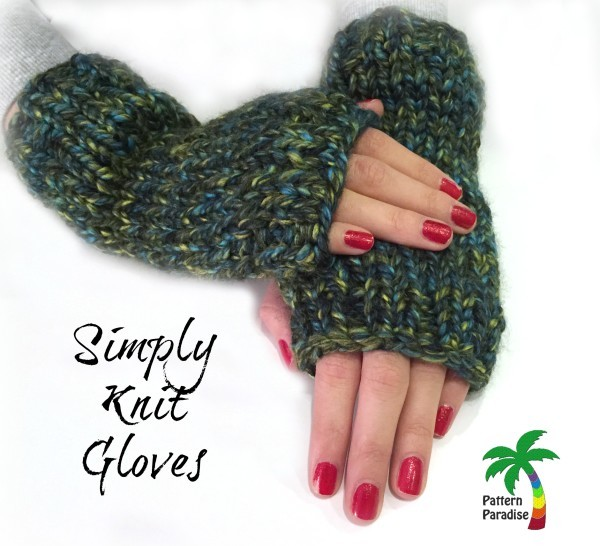 Easy Peasy Fingerless Gloves | AllFreeKnitting.com