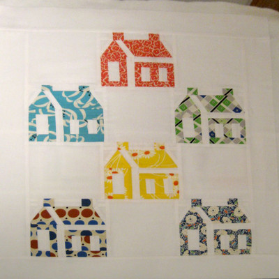 Quilting Houses with a Template