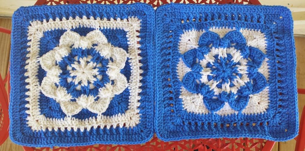 Star Flower Crochet Granny Square