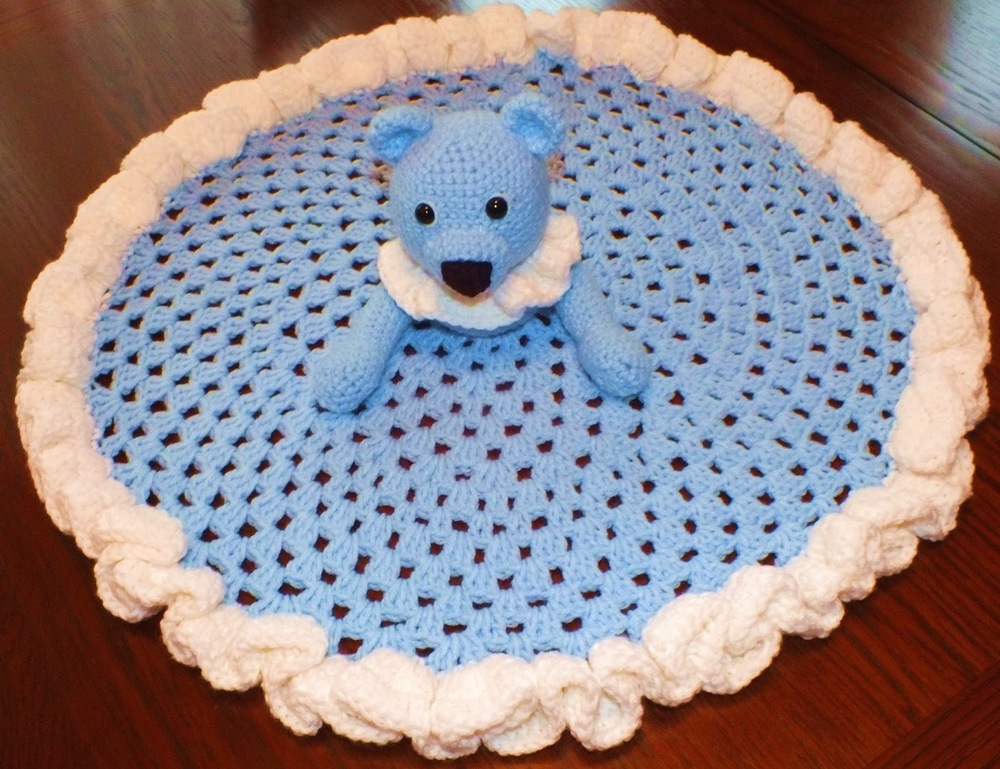 Teddy Bear Security Blanket Allfreecrochet Com