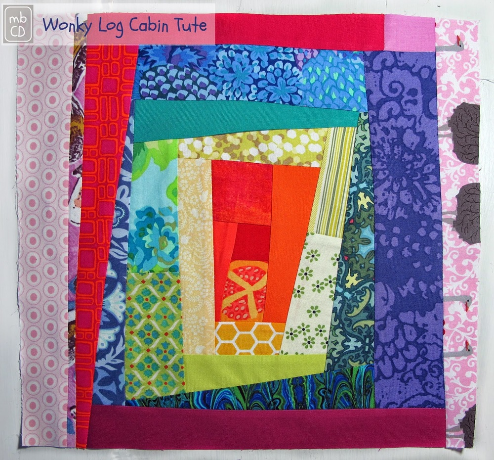Rainbow Scrapbusting Wonky Quilt Block Favequilts Com