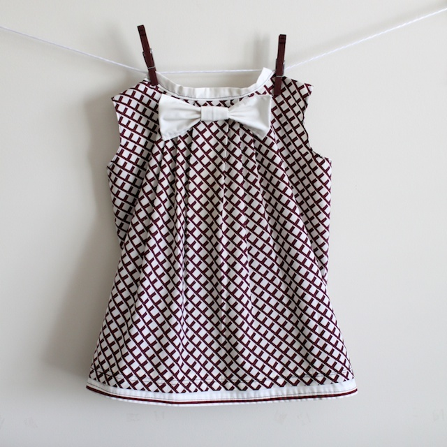 Pleated Bow Pillowcase Dress Allfreesewing Com