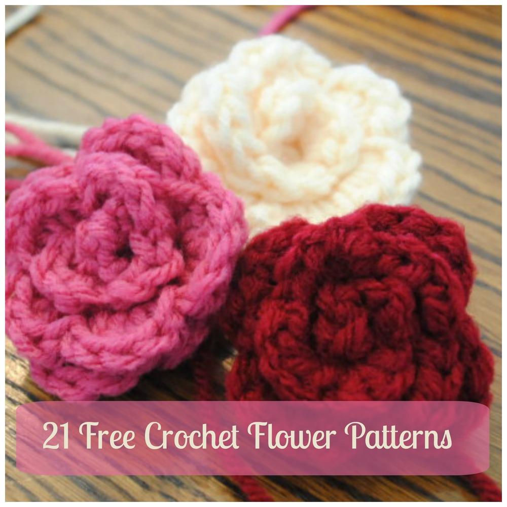 21 Free Crochet Flower Patterns Daisy Video