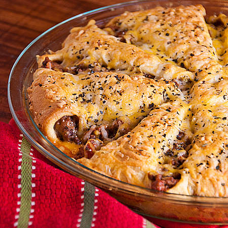 Italian crescent casserole for What to make with hamburger meat for dinner