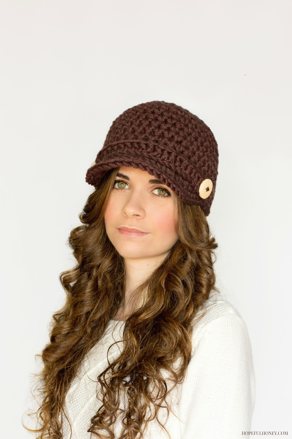 Crochet Hat Newsboy
