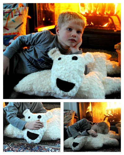 Floor Pillows Joannes : Polar Bear DIY Floor Pillow AllFreeSewing.com