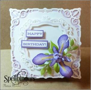 Lovely Iris DIY Birthday Card