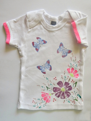 Flowers and Butterflies Onesie Baby Shower Craft