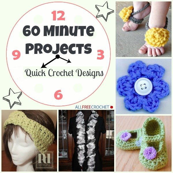 Crochet Patterns For Quick Gifts : 60 Minute Projects: 34 Quick Crochet Designs ...