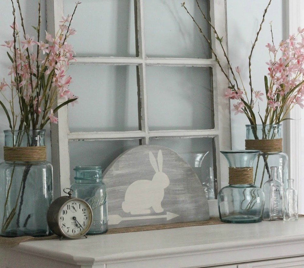 Rustic Bunny Easter Decoration