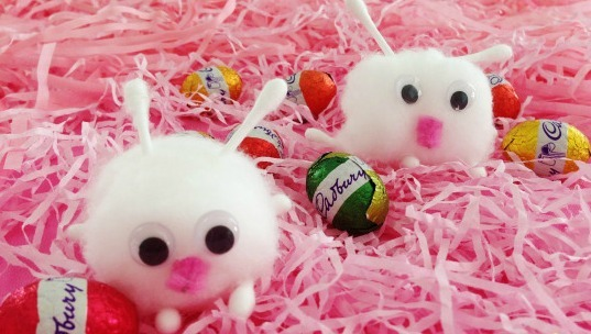 Itty Bitty Cotton Ball Bunny Crafts Allfreekidscrafts Com
