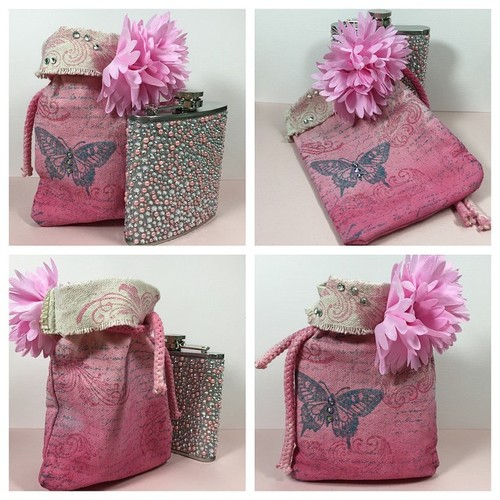 Fancy Flask Pouch DIY Gift Bag