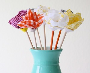 No Sew Fabric Flower Bouquet
