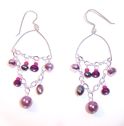 Delicate Pink Drop Earrings