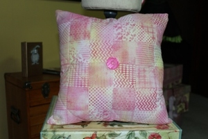 Faux Quilted Tie Dye Pillow