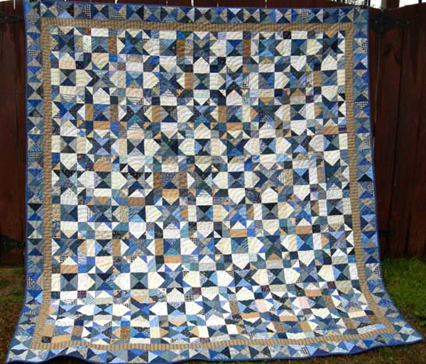My blue heaven bed quilt for Bed quilting designs