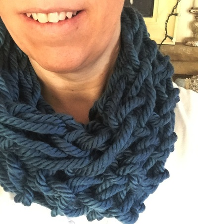arm knitting scarf instructions