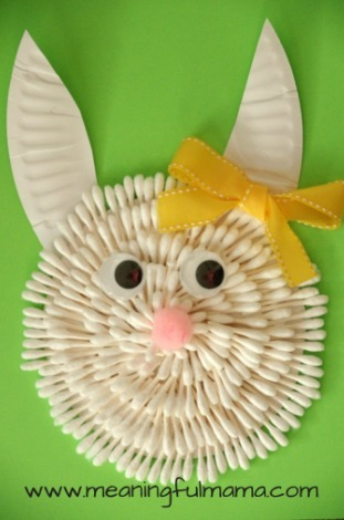 Q Tip Easter Bunny Craft Allfreekidscrafts Com