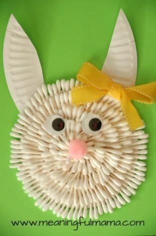 Q Tip Easter Bunny Craft Allfreekidscrafts Com