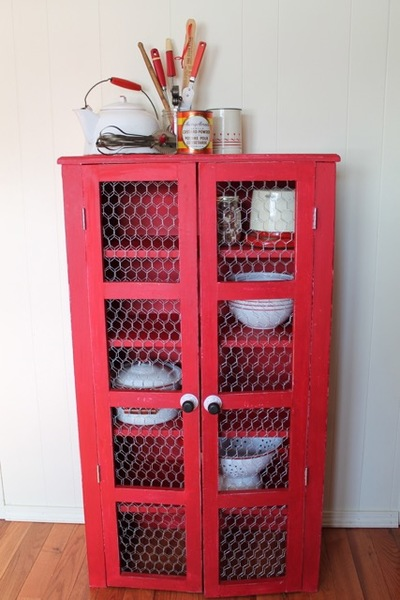Restyled Red Shelf Home Decor Craft