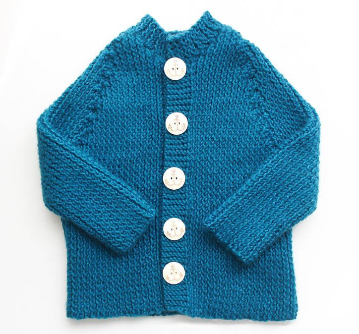 Free Knitting Pattern Baby Sailor Hat : Little Sailor Baby Sweater AllFreeKnitting.com