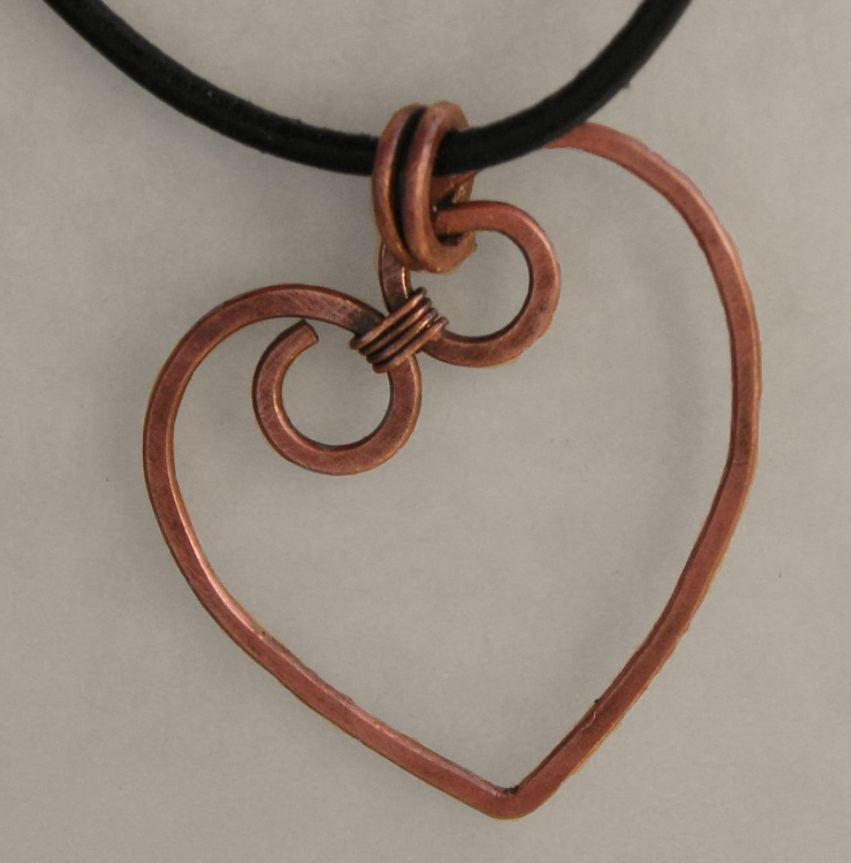 Copper Heart Necklace Allfreejewelrymaking Com