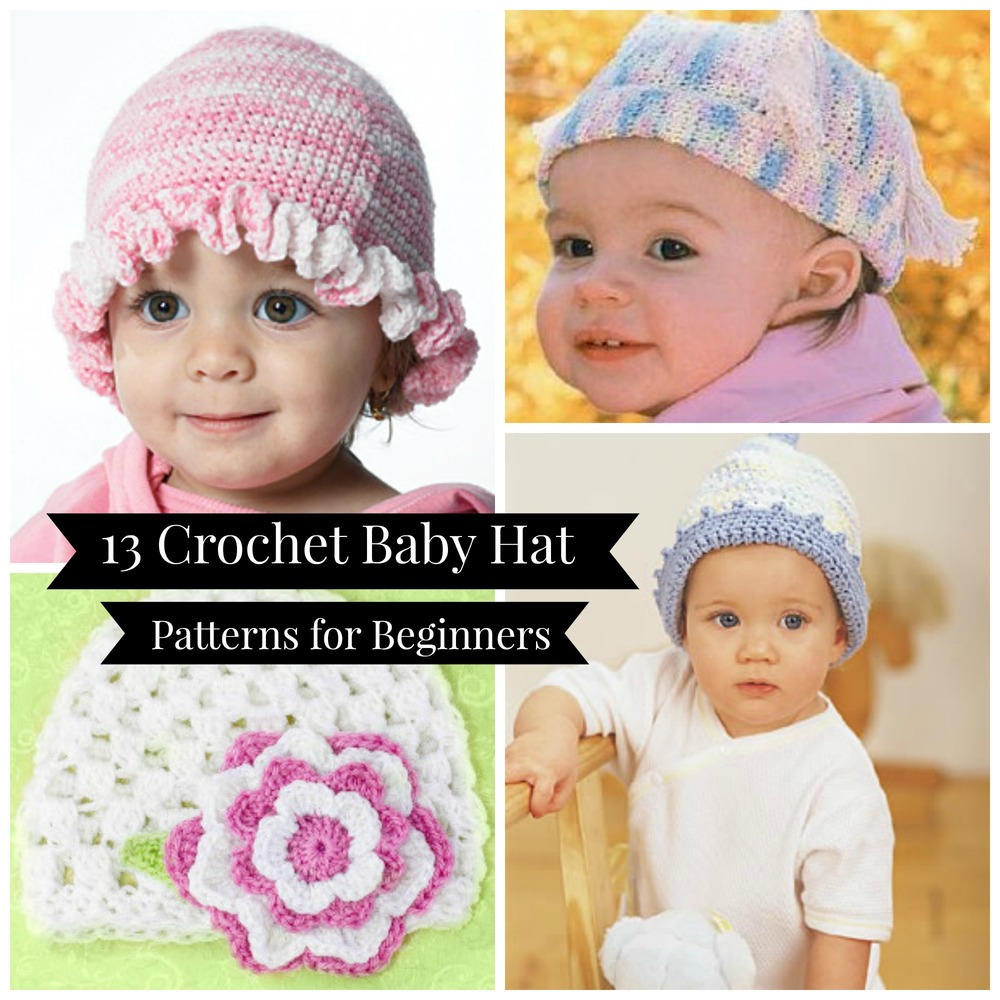 Crochet Baby Hat Pattern Beginner : 13 Crochet Baby Hat Patterns for Beginners FaveCrafts.com