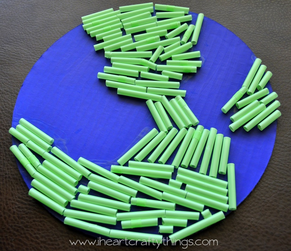 Earth Day Straw Craft Allfreekidscrafts Com