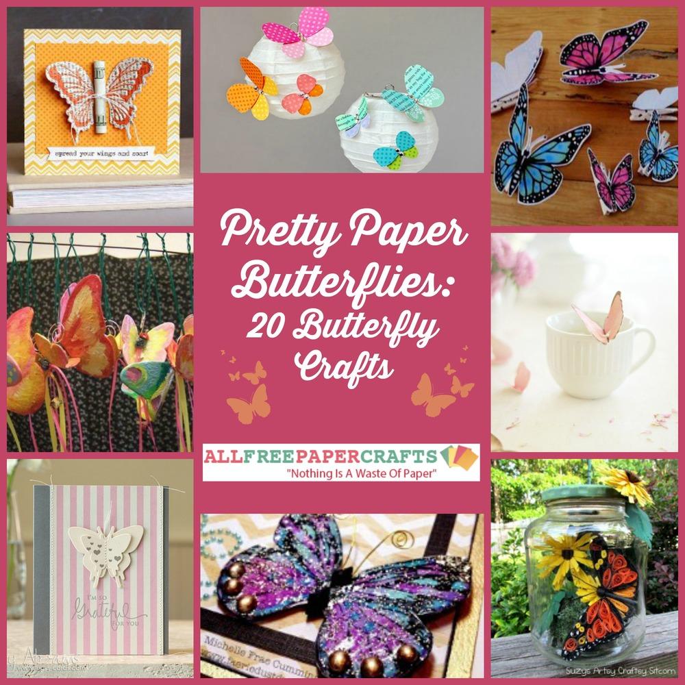 Pretty Paper Butterflies 20 Butterfly Crafts Allfreepapercrafts Com