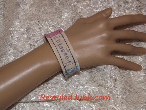 Scrappy Quilt Bracelets Fabric Craft