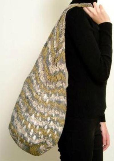 Moonlight Dress Knitting Pattern : Large Summer Tote AllFreeKnitting.com