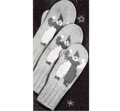 Childrens Two Needle Mittens
