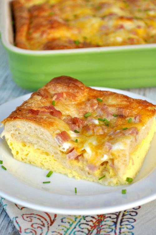 Cheesy Crescent Roll Breakfast Casserole Recipelion Com
