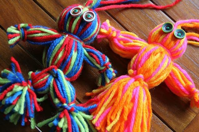 Simple And Sweet Yarn Dolls Allfreekidscrafts Com