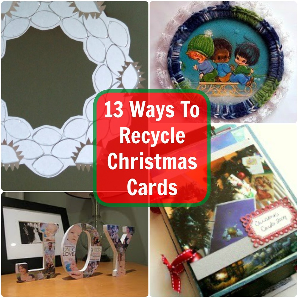 Ways to recycle christmas cards